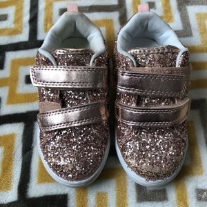 Carter's Pink Glitter Sneakers Toddler  Size 7